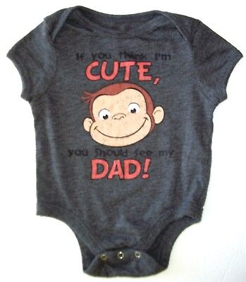 Old Navy ~ CURIOUS GEORGE, Cute Dad, Collectabilitees Classics, 3-6 Mo ~ OUTFIT