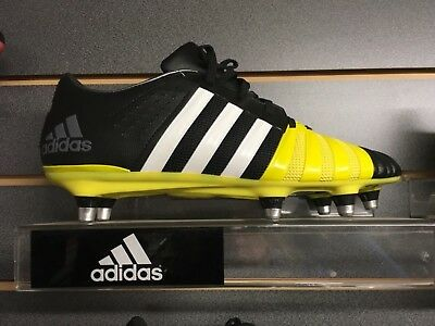 Adidas FF80 pro 2.0 xtrx sg rugby boots size 8.5 black and yellow