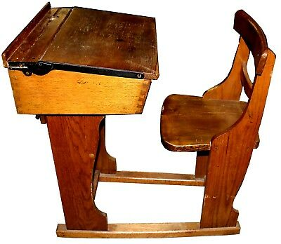Antique Historical School Desk by the National Committee, c. 1890-1910, Scotland
