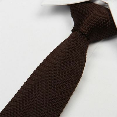 Pure Fashion Slim Knitted Knit Narrow Tie Necktie Woven