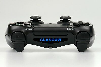 "PS4 MANDO Light Bar LED VINILO PEGATINA ""Glasgow """