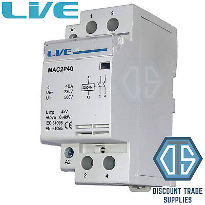 2 pole 4 pole 20 amp 25 amp 32 amp 40 amp 63 amp contactor normal 40 amp 2 pole contactor ac 84kw normally open din rail mount heating lighting swarovskicordoba Gallery