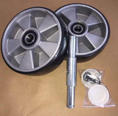 pallet jack steering wheels 7 inch x 2 inch With Bearings Poly Tread Install Kit