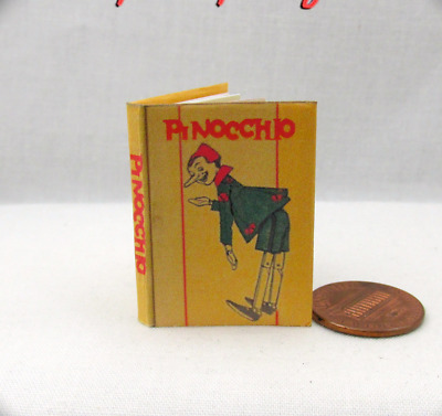 PINOCCHIO 1:6 Scale Book Illustrated Readable Miniature Book