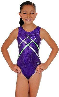 (Child Large (small 8-9 year old), Purple) - Unity Gymnastics Tank Leotard -