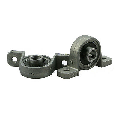 2Pcs Alloy Diameter 8mm Bore Ball Bearing Pillow Block Mounted Support KP08 BH