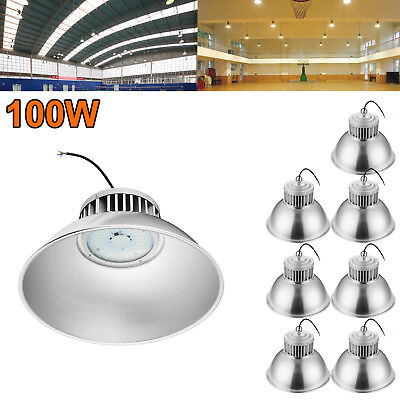 8X 100W LED High Bay Light Super Bright Fixture Warehouse Shop Gym Industry Lamp