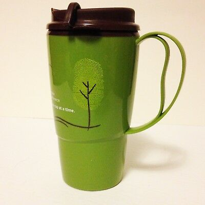 Tim Hortons Thermo-Serv green you make a difference Travel Coffee Mug Cup