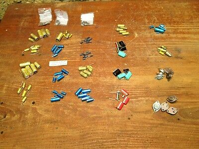 lot of 110 capacitor various / vintage stock of electronics