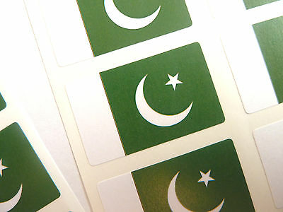 Mini Sticker Pack, Self-Adhesive Pakistan Flag Labels, FR206