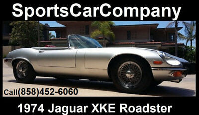 1974 Jaguar E-Type  1974 JAGUAR XKE ROADSTER METALLIC SILVER/RED SUPERIOR CAR INSIDE+OUT CALL TODAY!