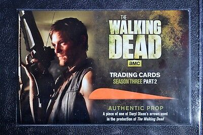 Walking Dead Season 3 Redemption R04 Daryl Arrow Variant Prop Large Trading Card