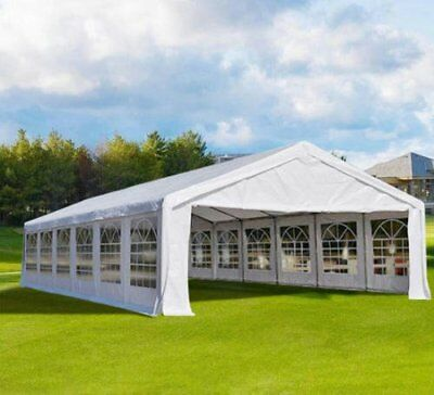 20' x 40' White Outdoor Gazebo Canopy Wedding Party Tent  with Removable Walls