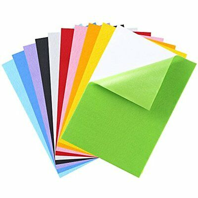 Caydo 10 Pieces Colors Adhesive Back Felt Sheets Fabric Sticky Sheets, 8.3 By A4