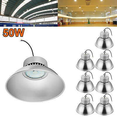 8X 50W LED High Bay Light Super Bright Fixture Warehouse Shop Gym Industry Lamp