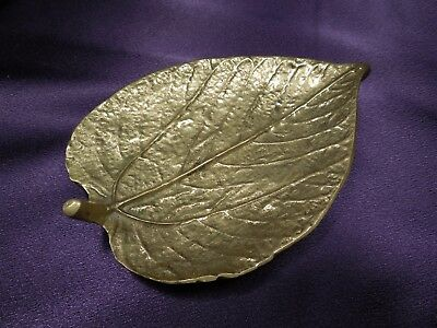 Vintage VIRGINIA METALCRAFTERS INITIALED SIGNED CW Mulberry Leaf Tray