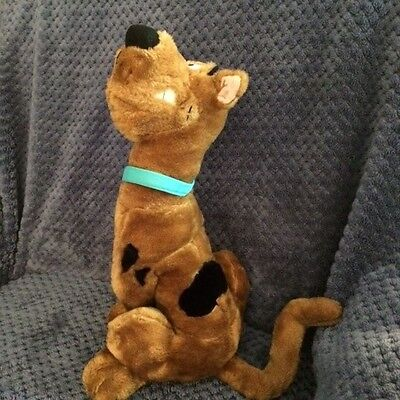 """Cartoon Network Scooby Doo Plush 15"""" Sitting Up Cheesy Grin Scooby ADORABLE!"""