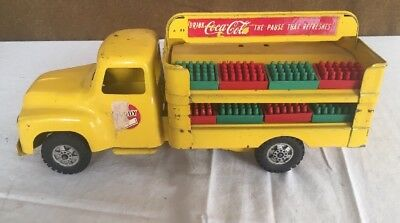 Original Buddy L Pressed Steel Coca Cola Delivery Truck ~ 8 Soda Crates