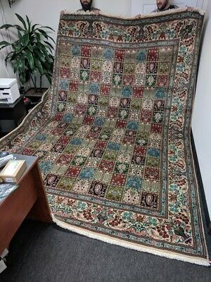 Antique Hand Knotted Garden Style Persian Rug Tabriz 4 Seasons GREAT COLORS