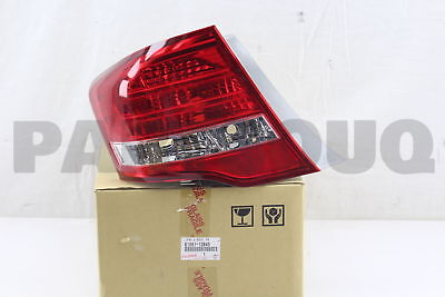 8156112B40 Genuine Toyota LENS & BODY, REAR COMBINATION LAMP, LH 81561-12B40