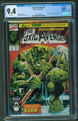 Toxic Avenger #1 Cgc 9.4 1991 Based On Troma Movie Doug Moench Rod Ramos