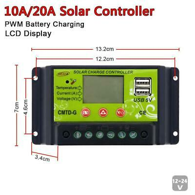 10/20A Solar Panel Battery Regulator Charge Controller 12/24V Auto Switch Jу