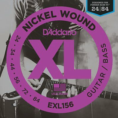 D'Addario EXL 156 BASS Guitar Strings For Fender Bass VI UPC 019954991463