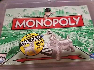 Monopoly Board Game Includes The Cat Token - New - Unopened - Made in USA