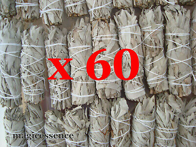"Smudge Stick California White Sage - Mini 4"" (10-12cm) - BULK PACK of 60 Sticks"