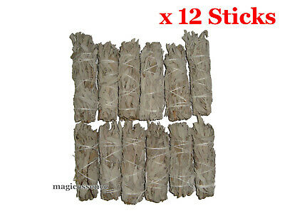 "Smudge Stick California White Sage - Mini 4"" (10-12cm) - BULK PACK of 12 Sticks"