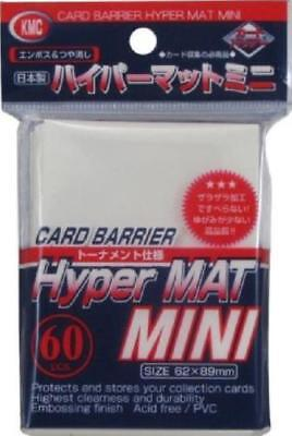 3x KMC MINI HYPER MAT WHITE Card Barrier Protector Sleeves 60ct Fit Yugioh