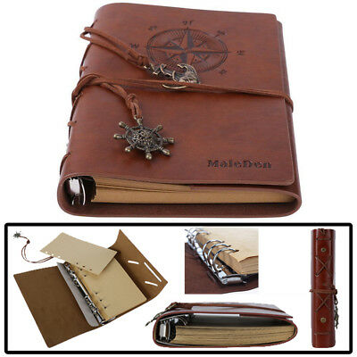 Classic Retro Compass PU Cover Notebook Journal Diary Travel Notepad Blank Pages
