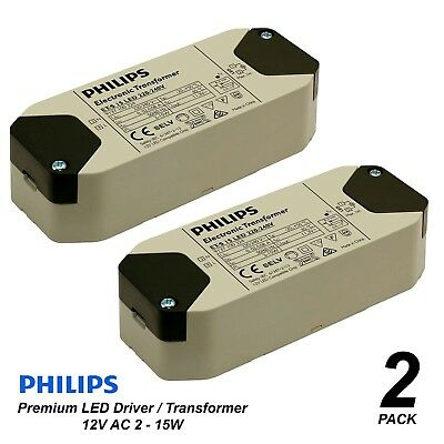 2 x Premium Philips Dimmable LED Driver / Transformer for Downlights 240V-12V AC