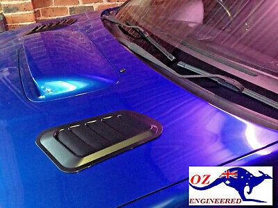 FUNCTIONAL-ABS HOOD/ BONNET VENTS(2) SCOOPS--universal -NOT FAKE OR  DECORATIVE!