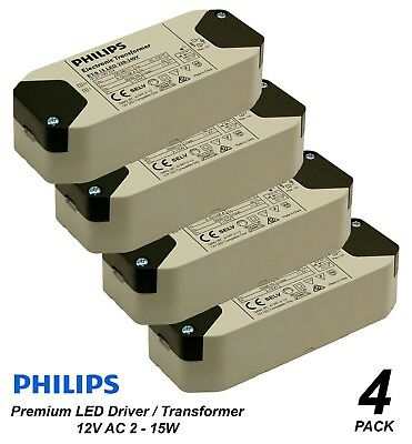 4 x Premium Philips Dimmable LED Driver / Transformer for Downlights 240V-12V AC