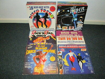 40 LPs VARIOUS ARTISTS - 70er Jahre - Disco - Glamrock - Pop  - Sampler SAMMLUNG