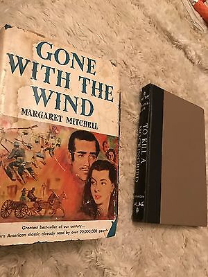 Lot of 2 Vintage American Classics: Gone With The Wind & To Kill A Mockingbird