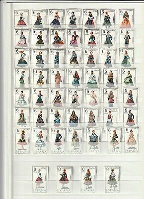 Spanish Stamps 1967-1971 - Provincial Costumes Set Of 53 Stamps  All MNH