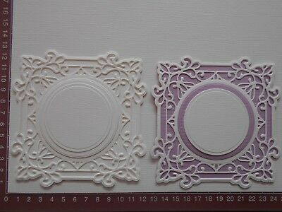 """Die cuts - """"SPECIAL""""  Sue Wilson Mats, Embossed x  8 pieces   Card toppers  (B)"""