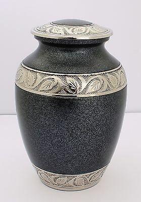 """Cremation Ashes Urn,Funeral Memorial 8"""" urn Young adult or child grey brass urn"""