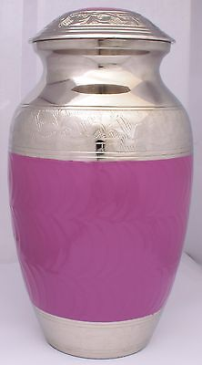 Adult Cremation Urn For Ashes Large Magenta Memorial Remembrance Ash Container