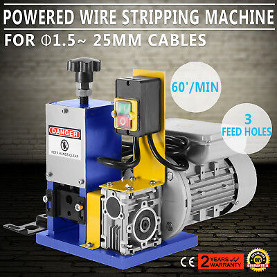 220V Powered Electric     Wire Stripping Machine Durable 55-60 feet/Min Copper