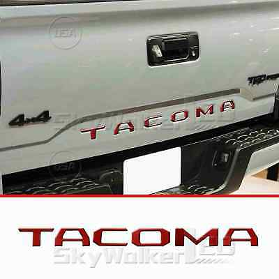 DKMRED REAR LETTERS FOR TOYOTA TACOMA 2016-2019 TAILGATE INSERT NOT DECALS