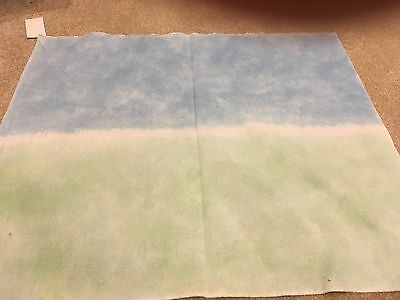 Hand painted opalescent 16 count aida - sky and grass