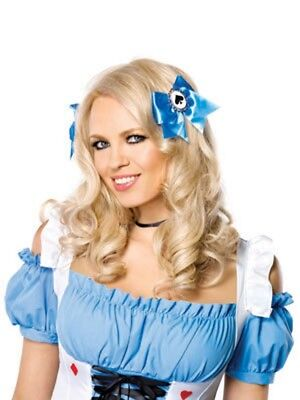 Alice hair bows with poker suit charms (3 sets per pack). Leg Avenue