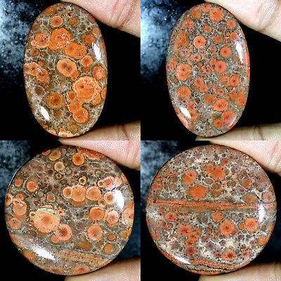 ~Mexican Poppy Jasper~ NATURAL UNTREATED OVAL, ROUND CABOCHON LOOSE GEMSTONES
