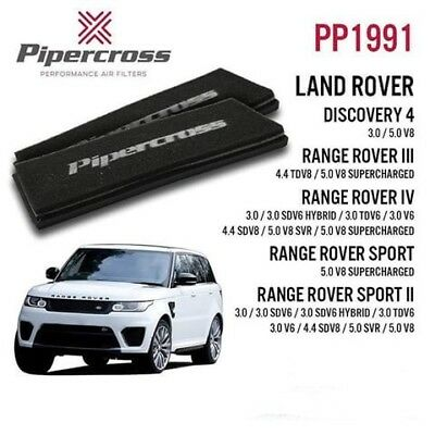 Pipercross Panel Air Filter 2 Filters Land Rover Range Rover Sport Mk2 3.0 13