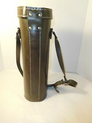 Leather Carrying Case for Aladdin Stanley Thermos 14 Inch w/ Strap