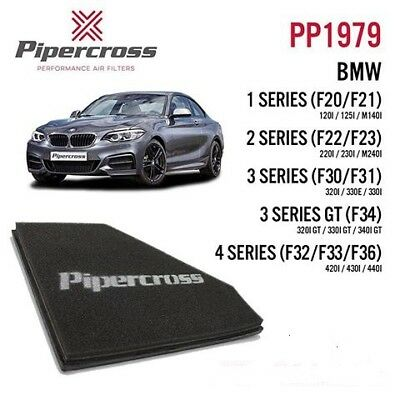 340i GT 330i Pipercross Performance Panel Air Filter BMW 3 Series GT 320i