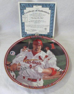 Mark McGwire Home Run Hero: Opening With A Slam The Bradford Exchange w/ COA